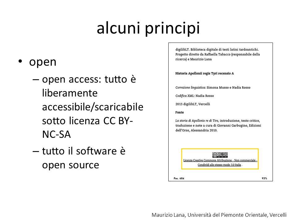 alcuni principi open. open access: tutto è liberamente accessibile/scaricabile sotto licenza CC BY-NC-SA.