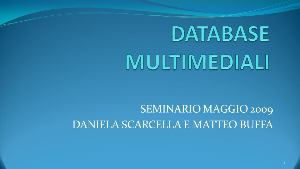 DATABASE MULTIMEDIALI