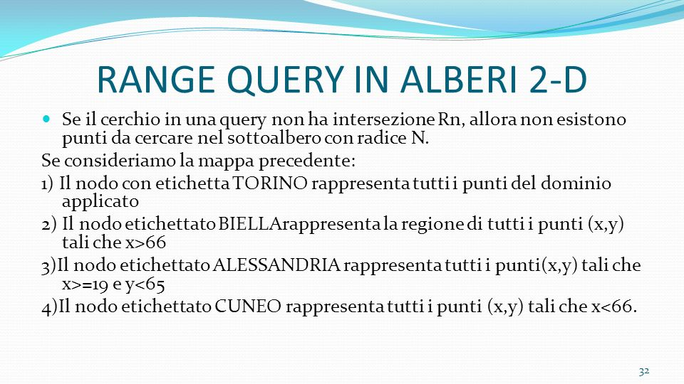 RANGE QUERY IN ALBERI 2-D