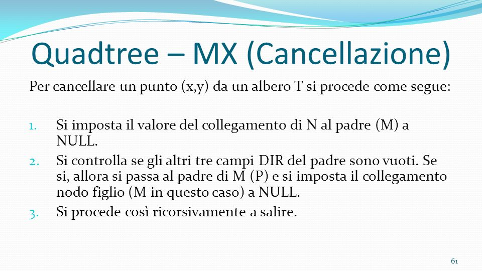 Quadtree – MX (Cancellazione)