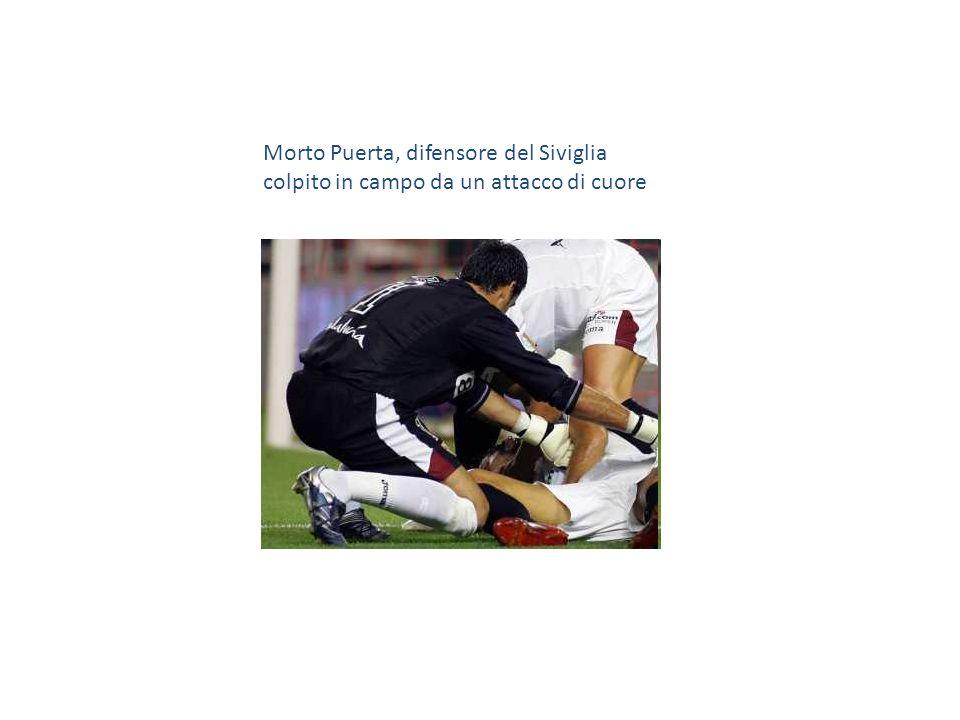 Morto Puerta, difensore del Siviglia colpito in campo da un attacco di cuore