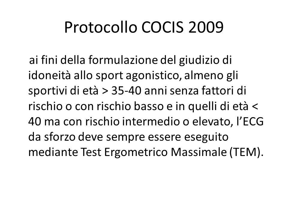 Protocollo COCIS 2009