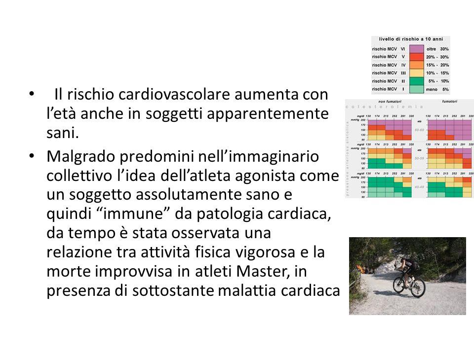 Il rischio cardiovascolare aumenta con l'età anche in soggetti apparentemente sani.
