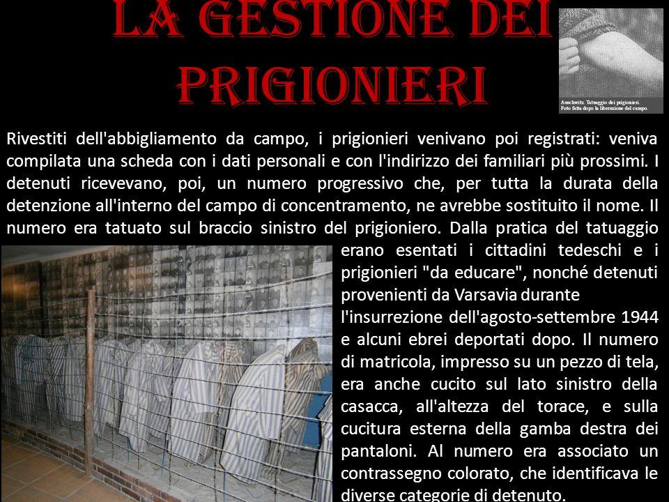La gestione dei prigionieri