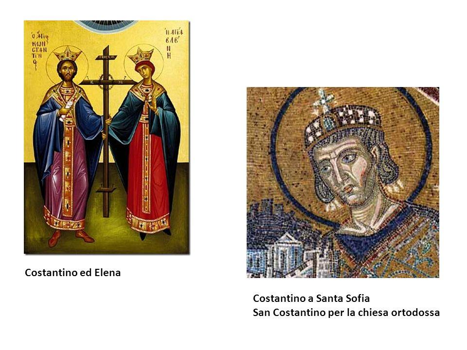 Costantino ed Elena Costantino a Santa Sofia San Costantino per la chiesa ortodossa