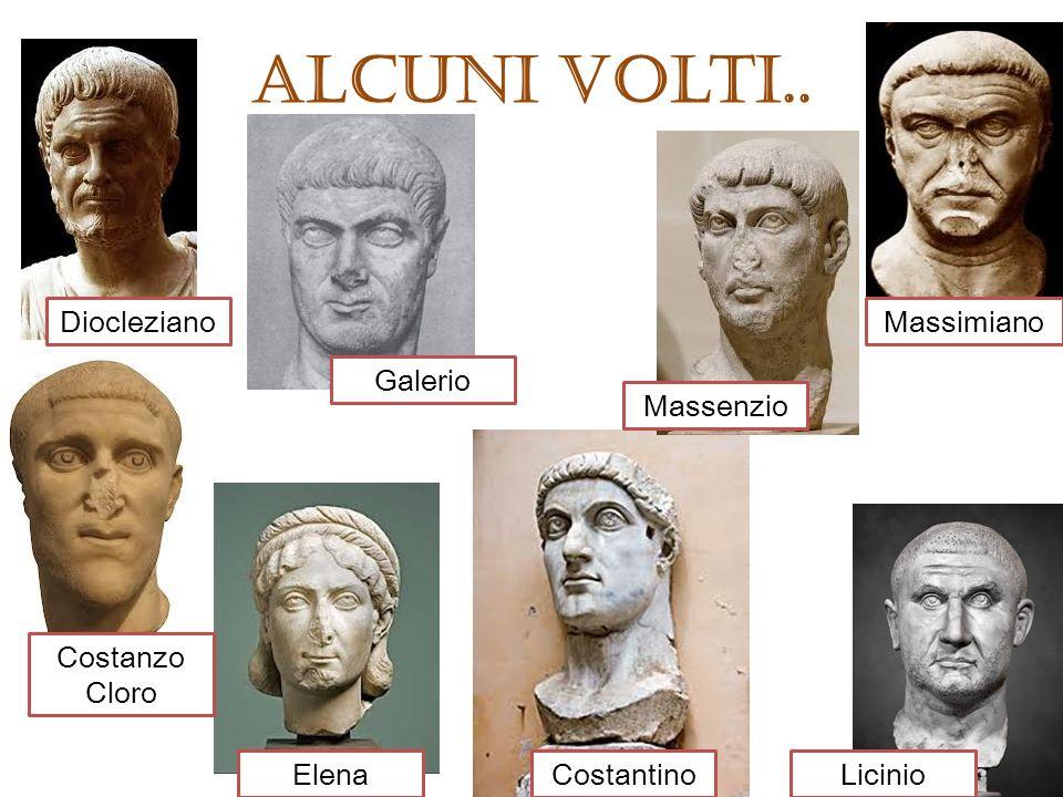 Alcuni volti.. Diocleziano Massimiano Galerio Massenzio Costanzo Cloro