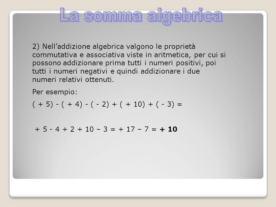 La somma algebrica