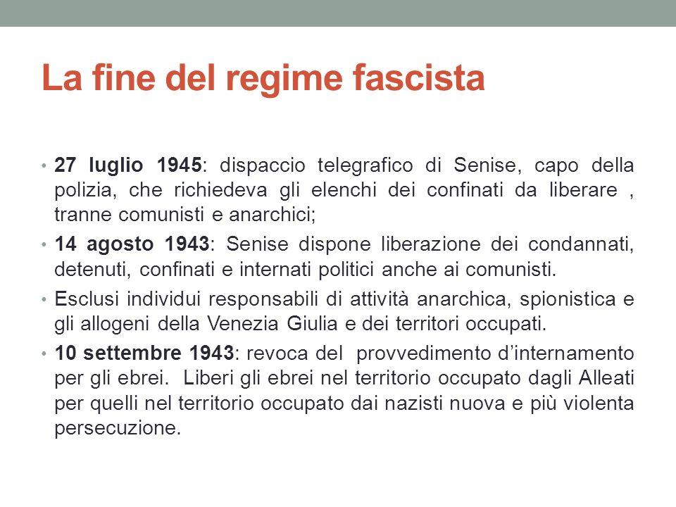La fine del regime fascista