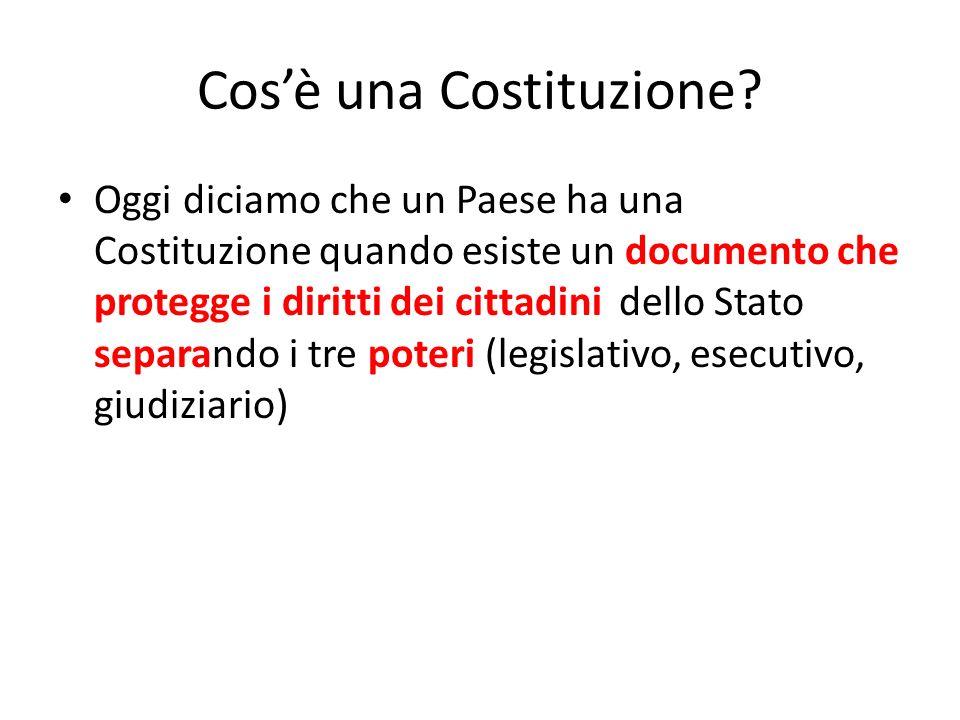 Cos'è una Costituzione
