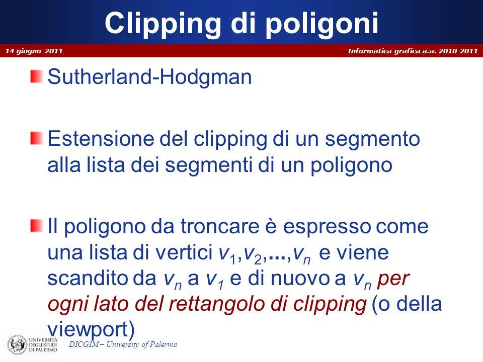 Clipping di poligoni Sutherland-Hodgman