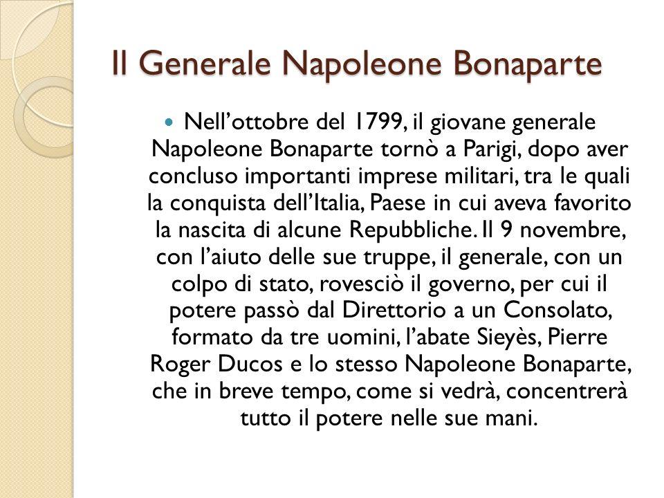 Il Generale Napoleone Bonaparte
