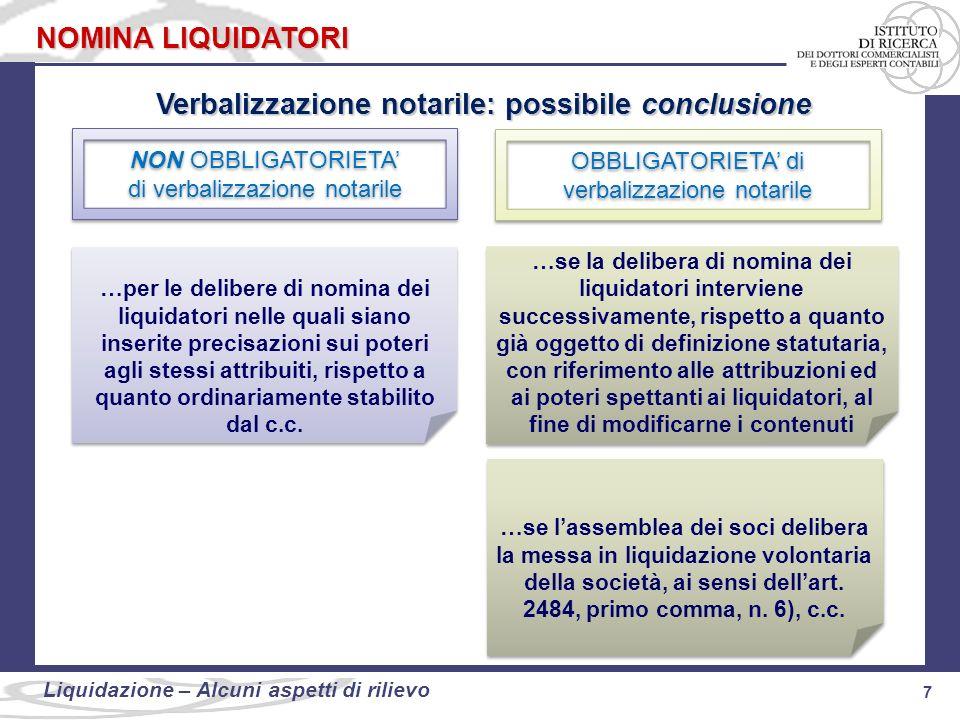 Verbalizzazione notarile: possibile conclusione