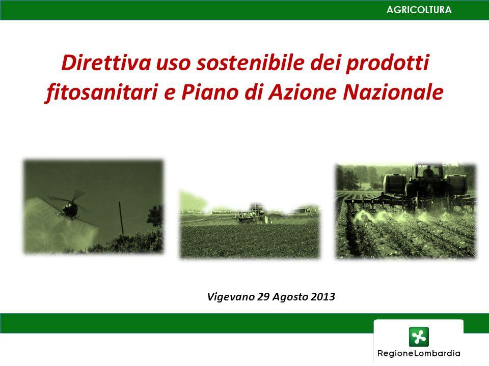 Direttiva uso sostenibile dei prodotti fitosanitari e Piano di Azione Nazionale