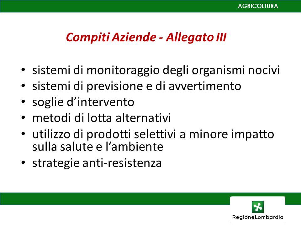 Compiti Aziende - Allegato III