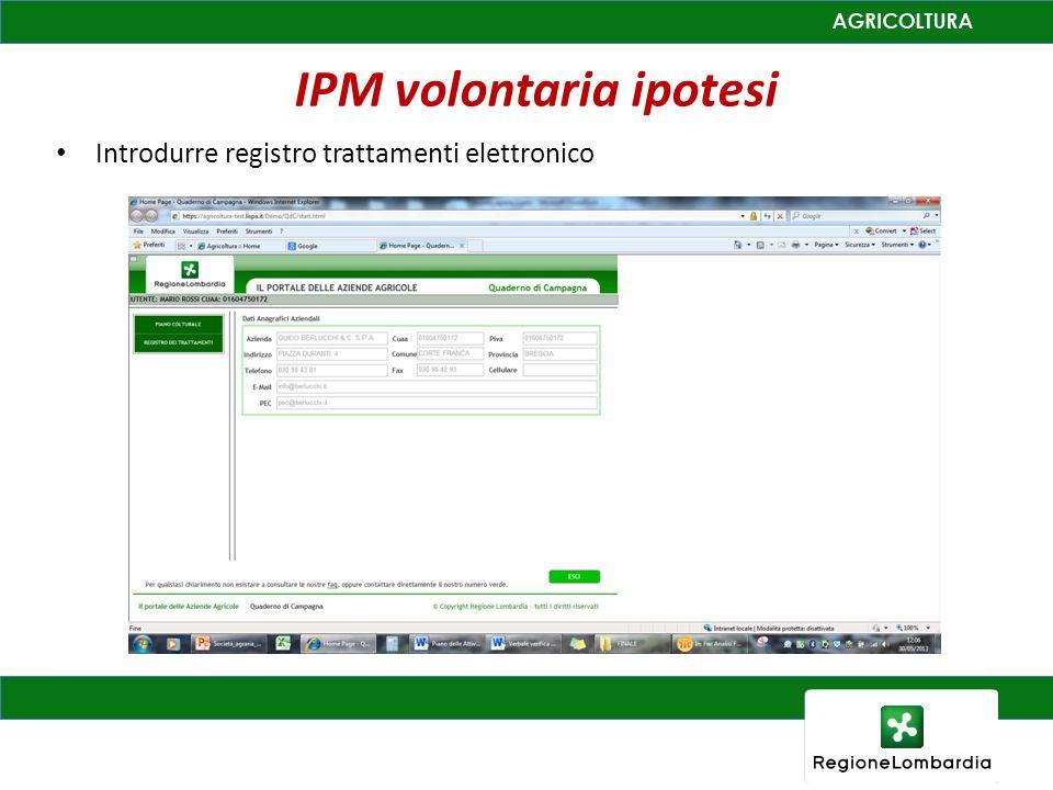 IPM volontaria ipotesi