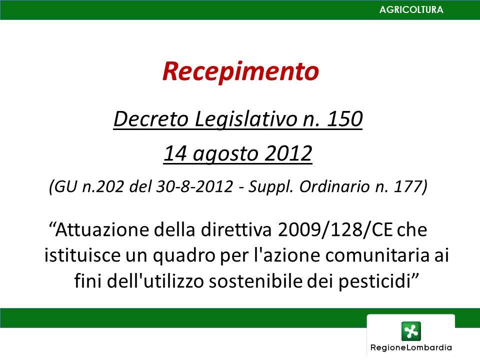 (GU n.202 del 30-8-2012 - Suppl. Ordinario n. 177)
