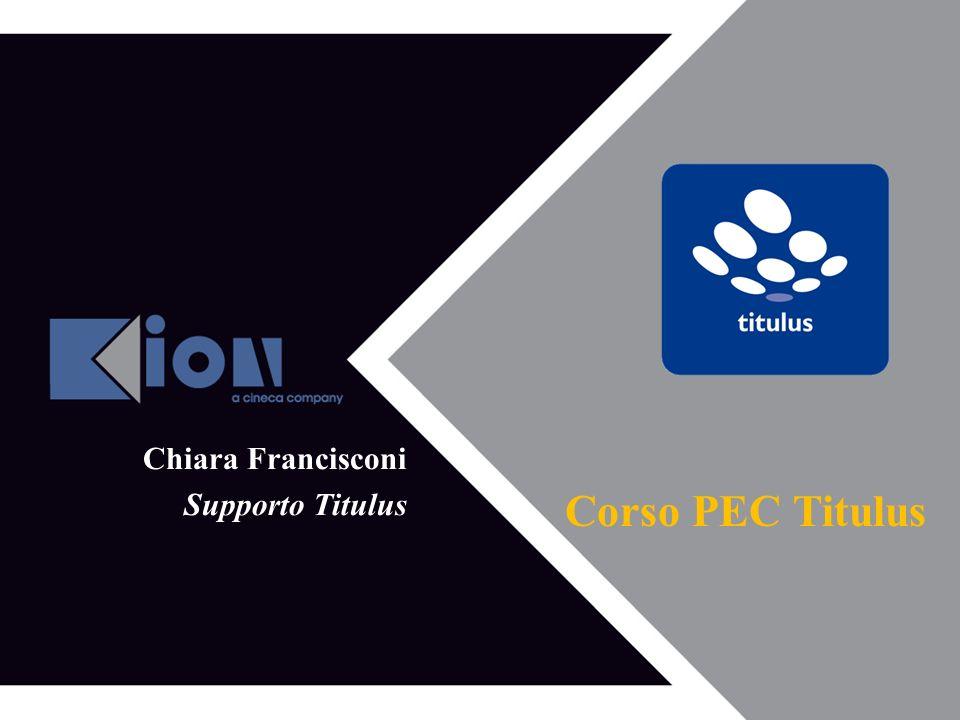 Corso PEC Titulus Chiara Francisconi Supporto Titulus Aprire: Firefox