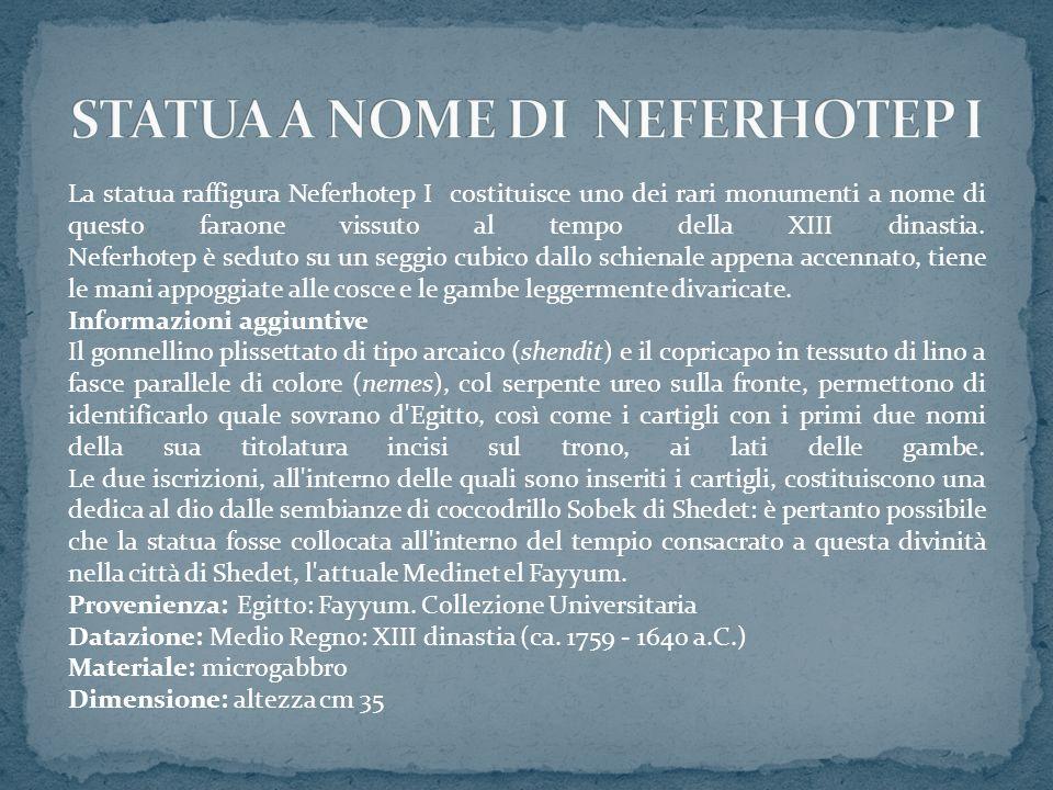 STATUA A NOME DI NEFERHOTEP I