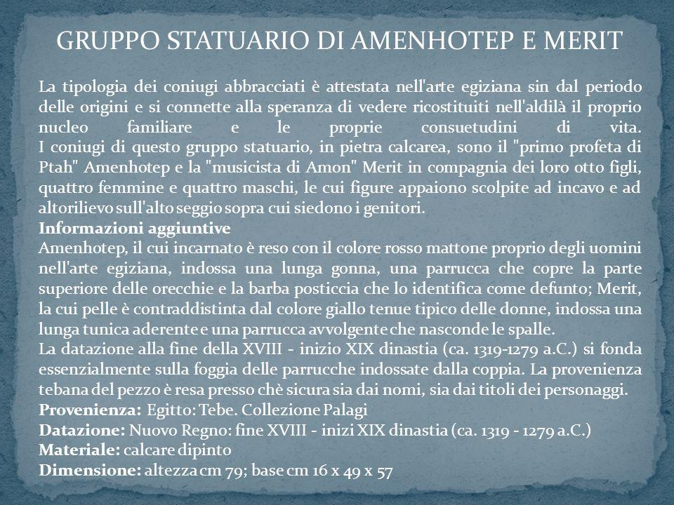 GRUPPO STATUARIO DI AMENHOTEP E MERIT