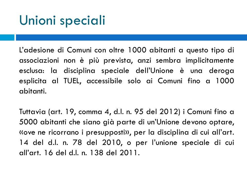 Unioni speciali