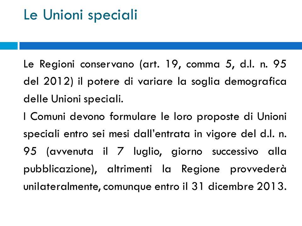 Le Unioni speciali