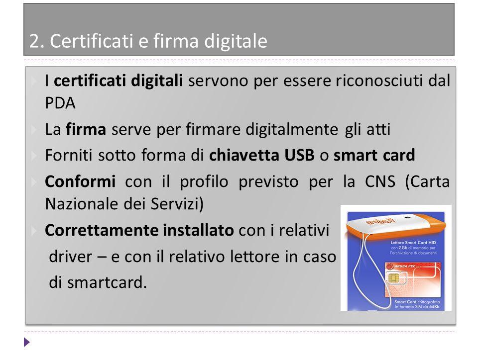 2. Certificati e firma digitale