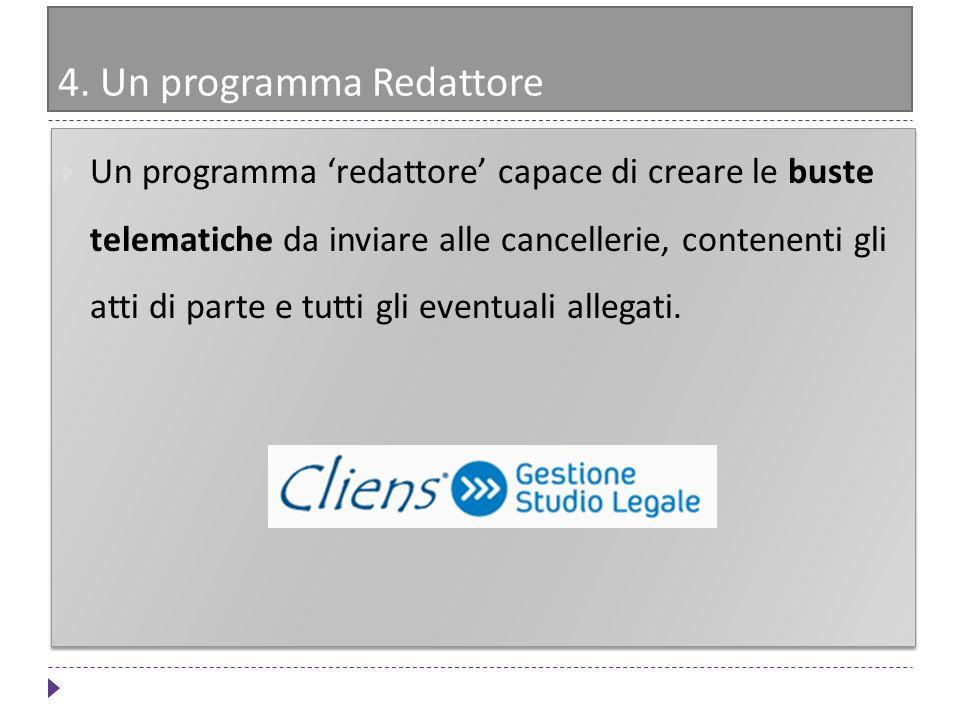 4. Un programma Redattore