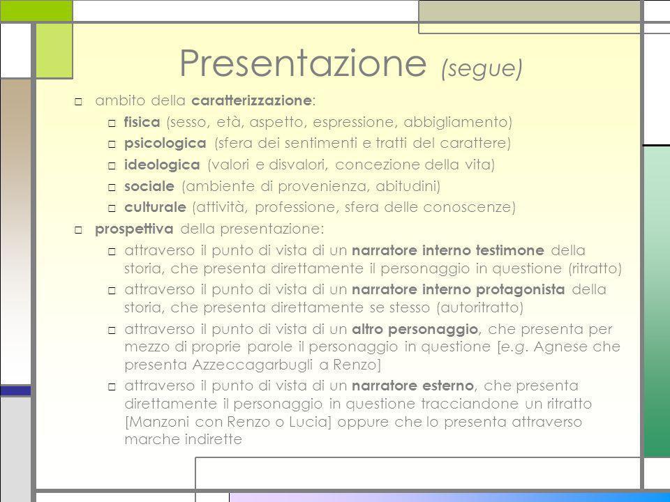 Presentazione (segue)