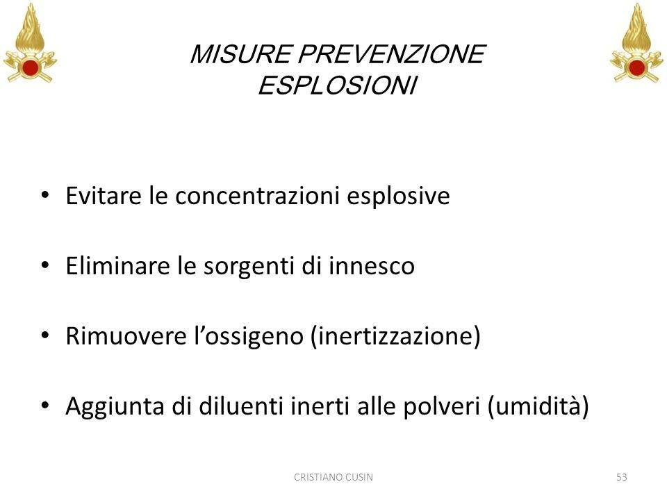 MISURE PREVENZIONE ESPLOSIONI