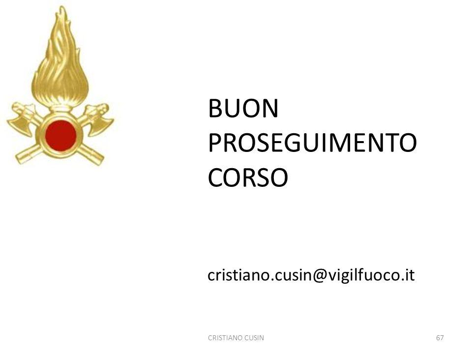 BUON PROSEGUIMENTO CORSO