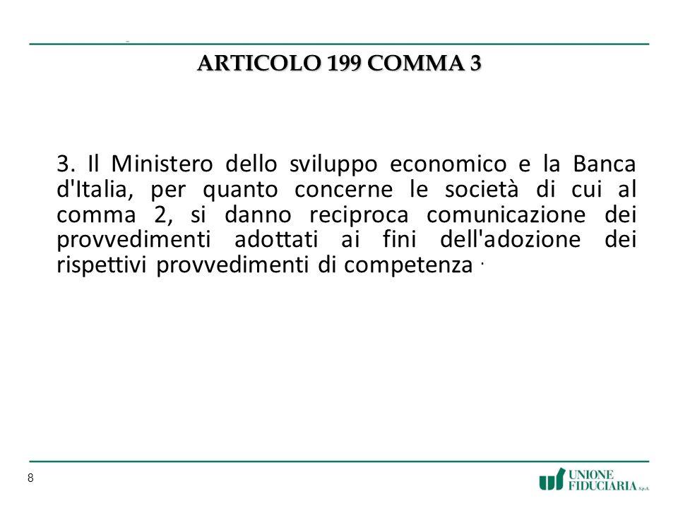 ARTICOLO 199 COMMA 3