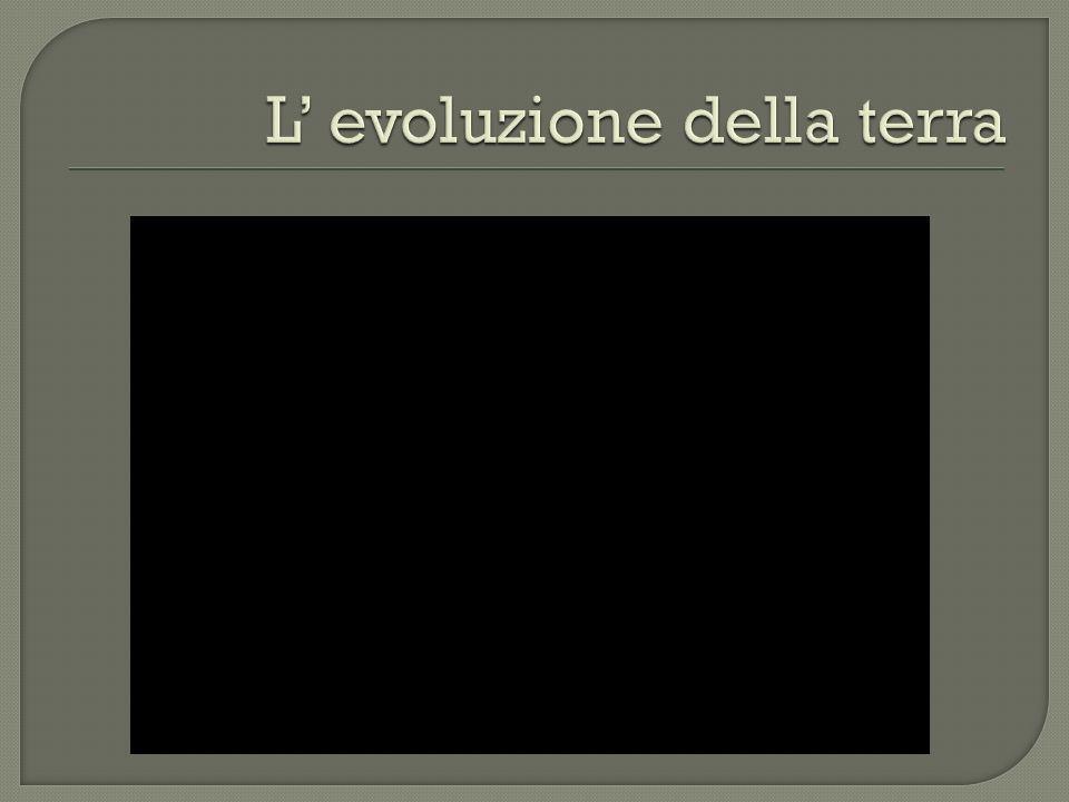 L' evoluzione della terra