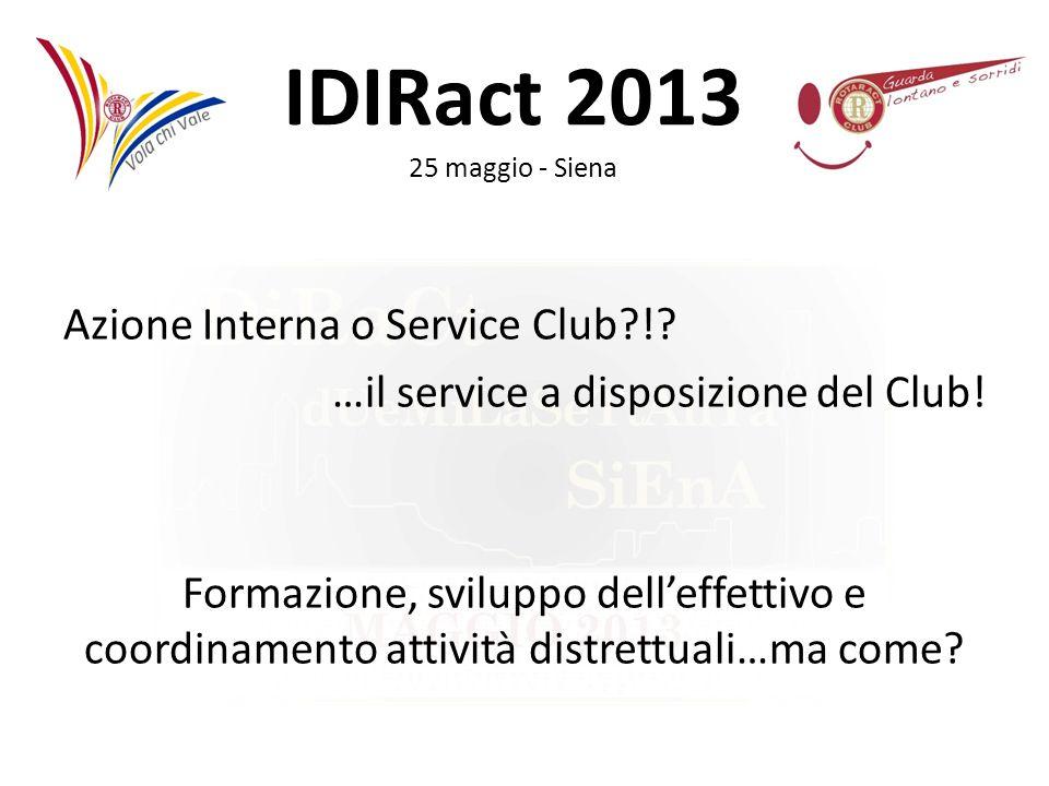 Azione Interna o Service Club. …il service a disposizione del Club