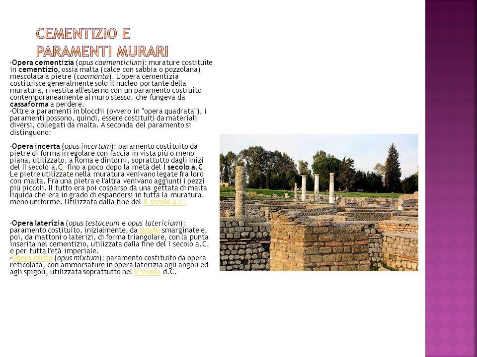 Cementizio e paramenti murari