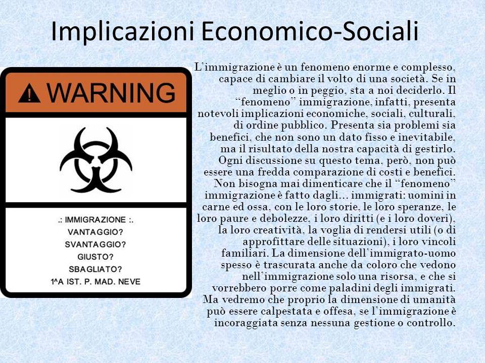 Implicazioni Economico-Sociali