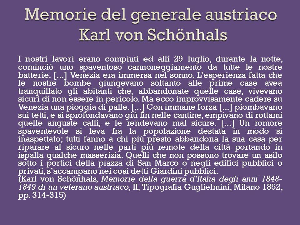 Memorie del generale austriaco Karl von Schönhals