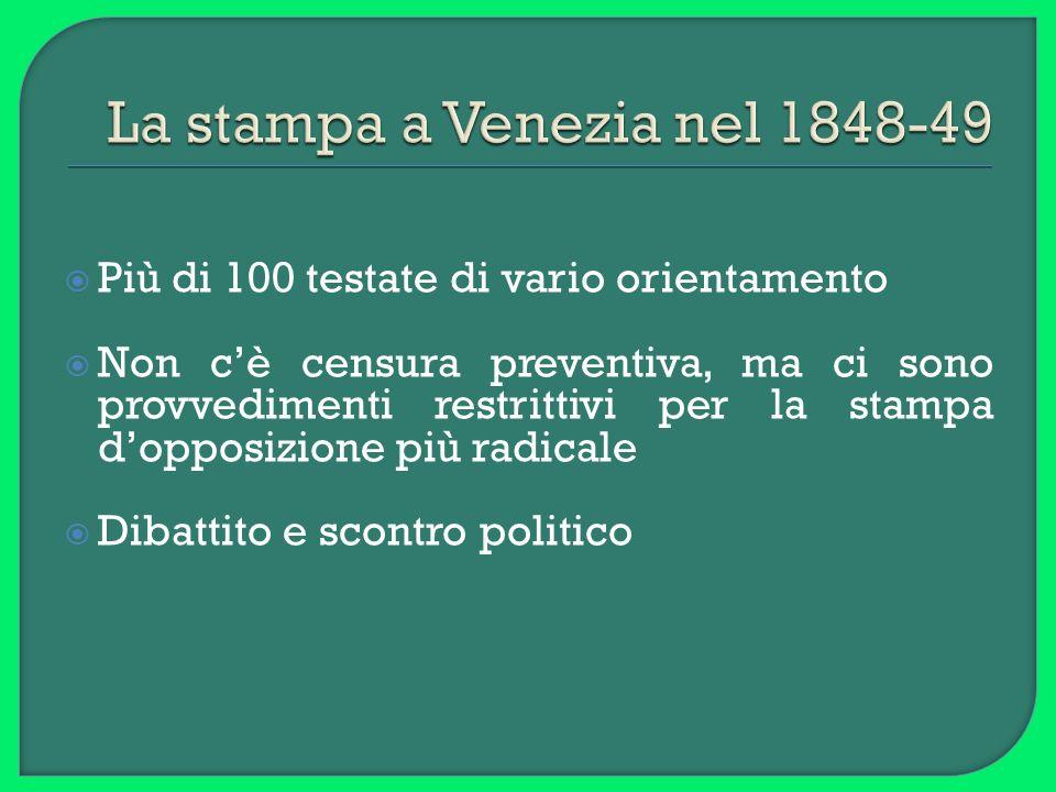 La stampa a Venezia nel 1848-49