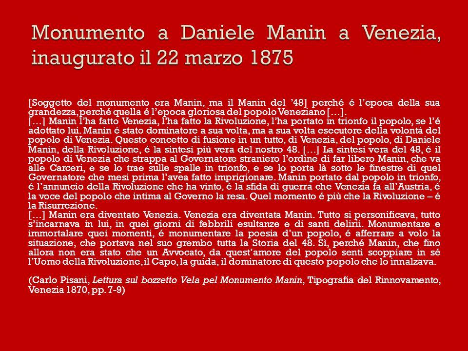 Monumento a Daniele Manin a Venezia, inaugurato il 22 marzo 1875