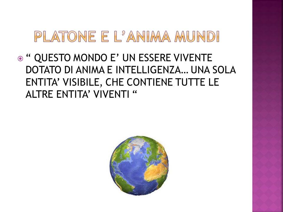 PLATONE E L'ANIMA MUNDI