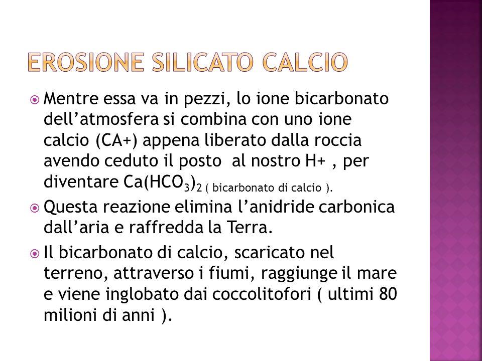 EROSIONE SILICATO CALCIO