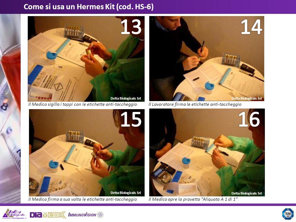 14 13 16 15 Come si usa un Hermes Kit (cod. HS-6)