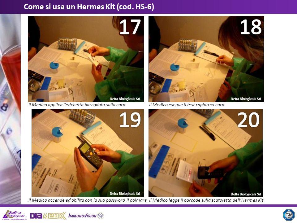 18 17 20 19 Come si usa un Hermes Kit (cod. HS-6)