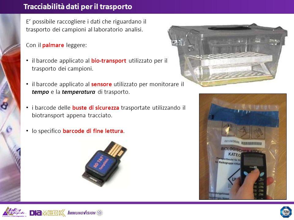 Tracciabilità dati per il trasporto