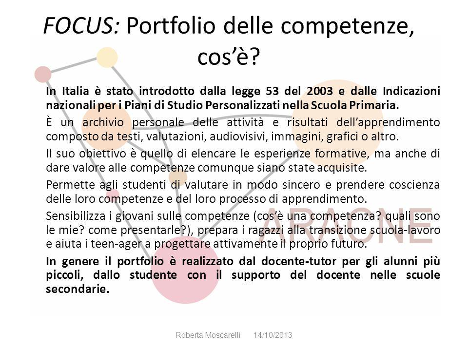 FOCUS: Portfolio delle competenze, cos'è