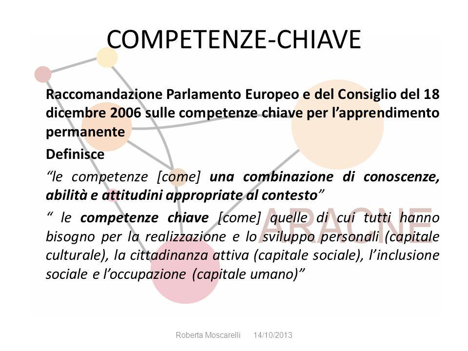 COMPETENZE-CHIAVE Raccomandazione Parlamento Europeo e del Consiglio del 18 dicembre 2006 sulle competenze chiave per l'apprendimento permanente.