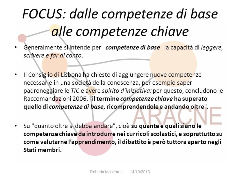 FOCUS: dalle competenze di base alle competenze chiave
