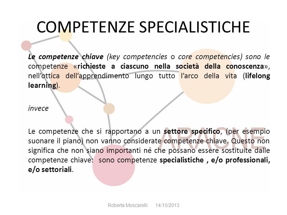 COMPETENZE SPECIALISTICHE