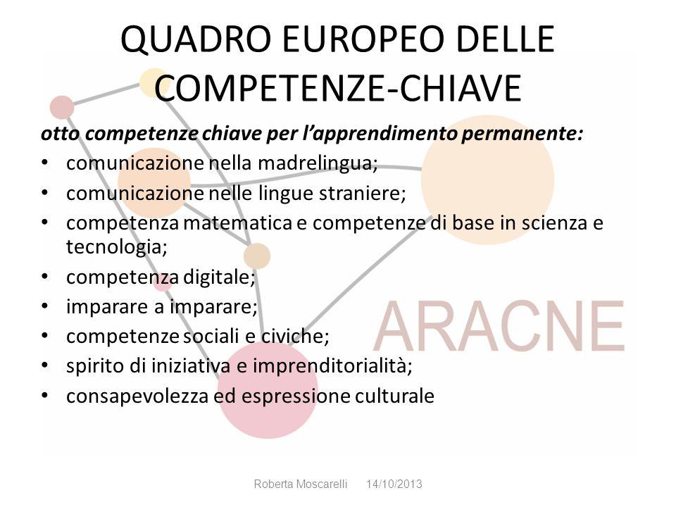 QUADRO EUROPEO DELLE COMPETENZE-CHIAVE