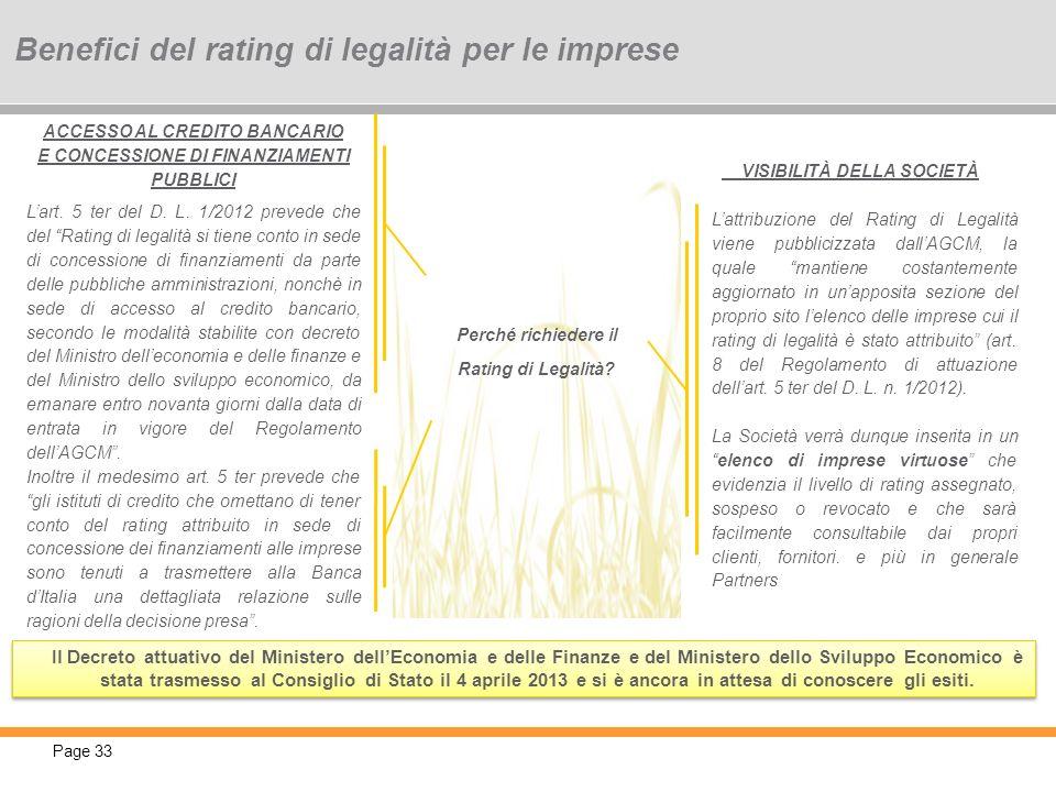 Benefici del rating di legalità per le imprese