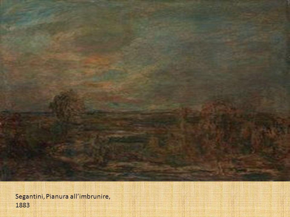 Segantini, Pianura all'imbrunire, 1883